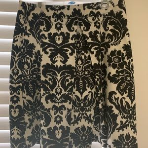 Black and cream skirt